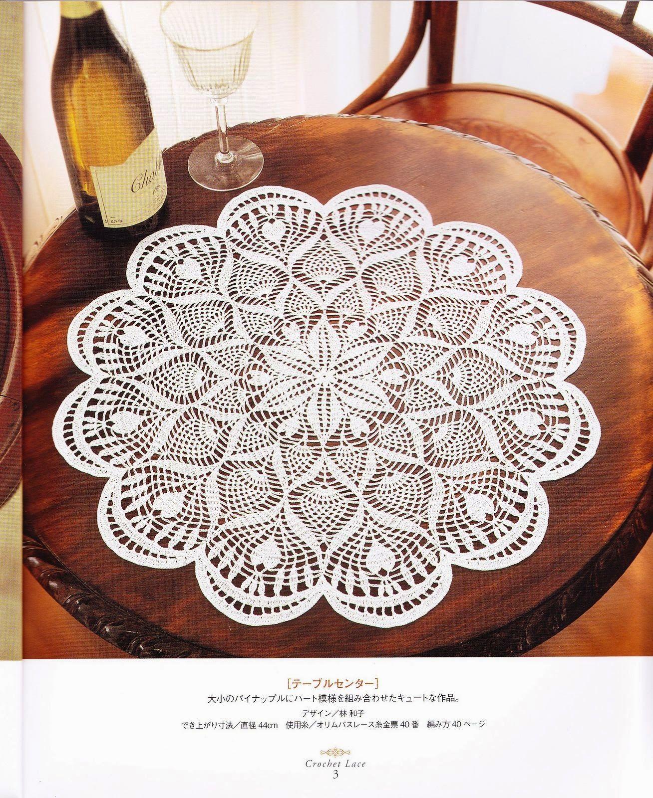 PATRONES GRATIS DE CROCHET: Patrón tapete o centro de mesa a crochet ...