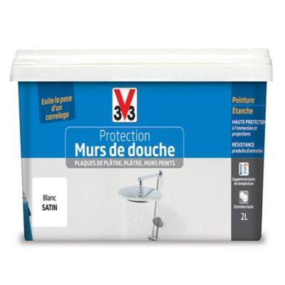 Peinture De Protection Mur De Douche V33 Blanc Satine 2l Douche Peinture Carrelage Et V33