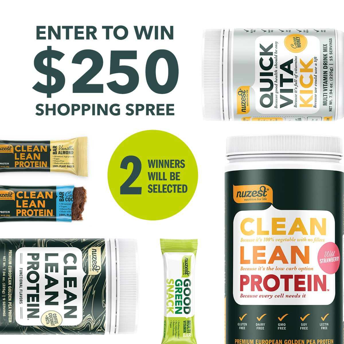 Enter to win this super proteinpackage prize from nuzest