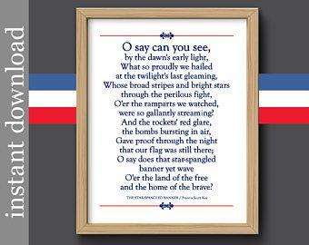 photograph regarding National Anthem Lyrics Printable named Star Spangled Banner, Veterans Working day, record printable