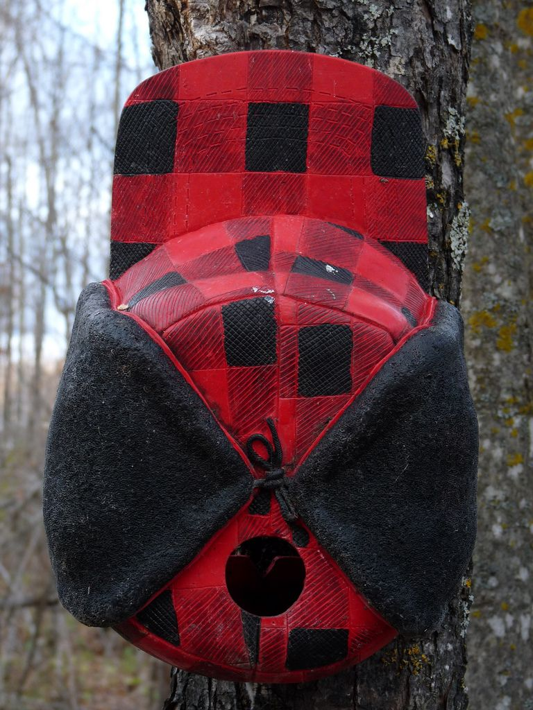 Red flannel backpack  Buffalo Plaid Hat Bird House  Stuff to buy  Pinterest  Bird