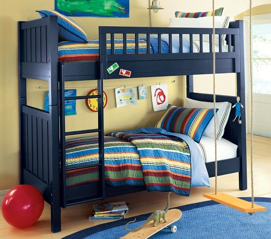 remarkable boys bedroom ideas loft bed | Camp Twin-Over-Twin Bunk Bed | Bunk beds boys, Adult bunk ...