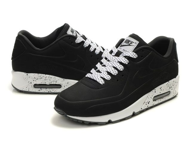 nike air max 90 chaussures femmes noir blanc