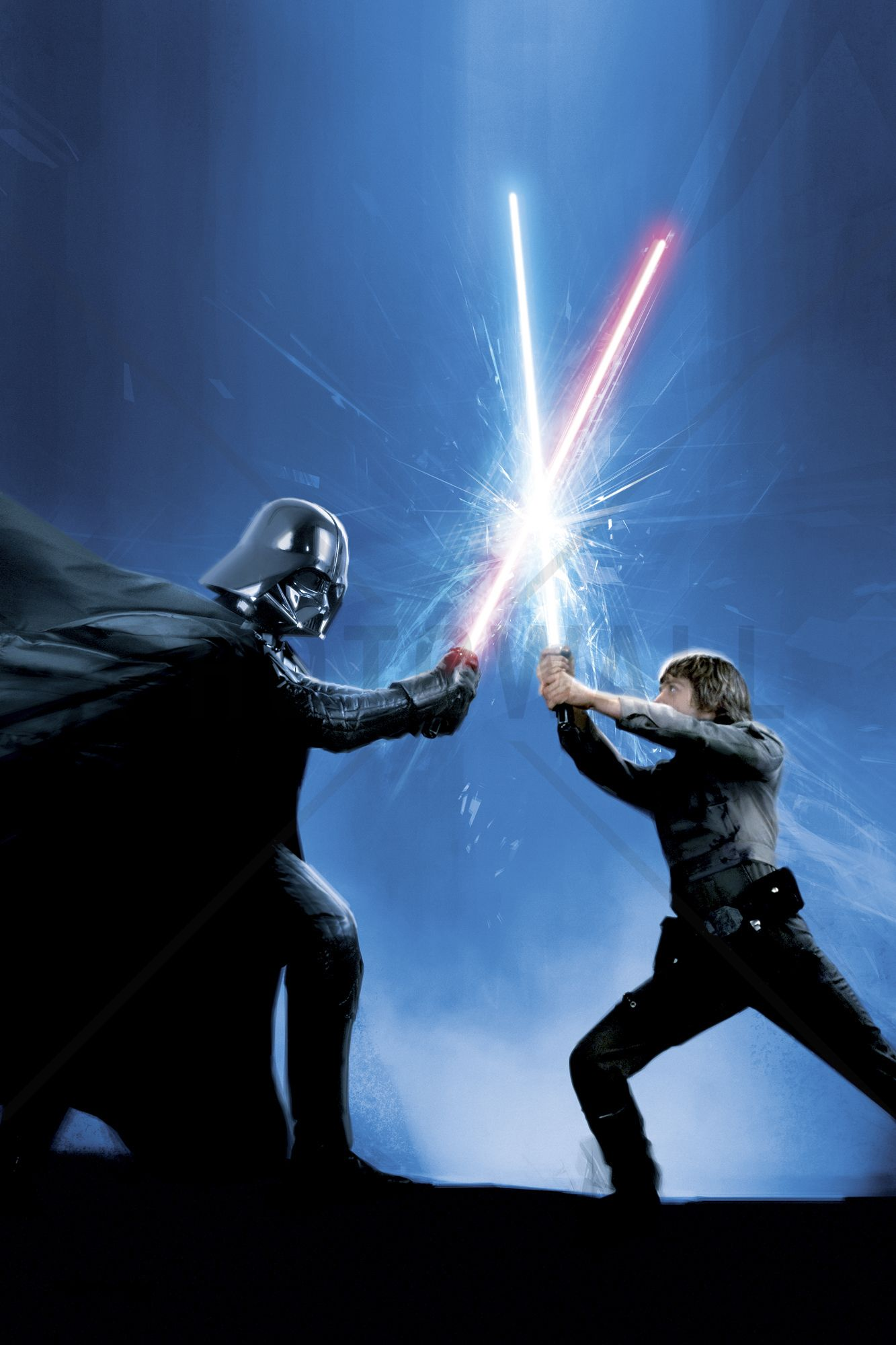 Star Wars Darth Vader And Luke Skywalker Wall Mural Photo