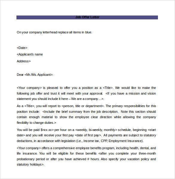 offer letter template free word pdf documents download nursing cover
