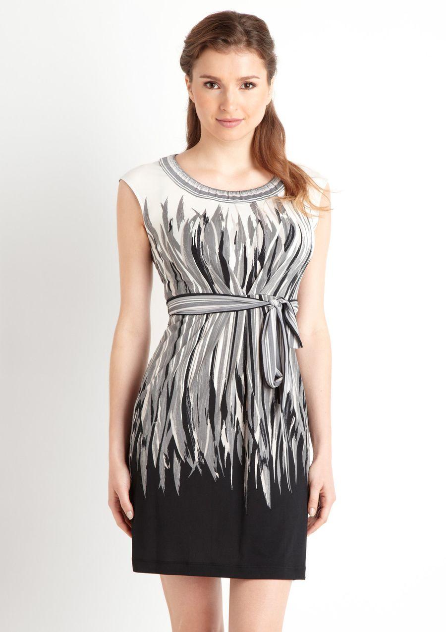 Bcbgmaxazria tie waist evolving print dress dresses pinterest
