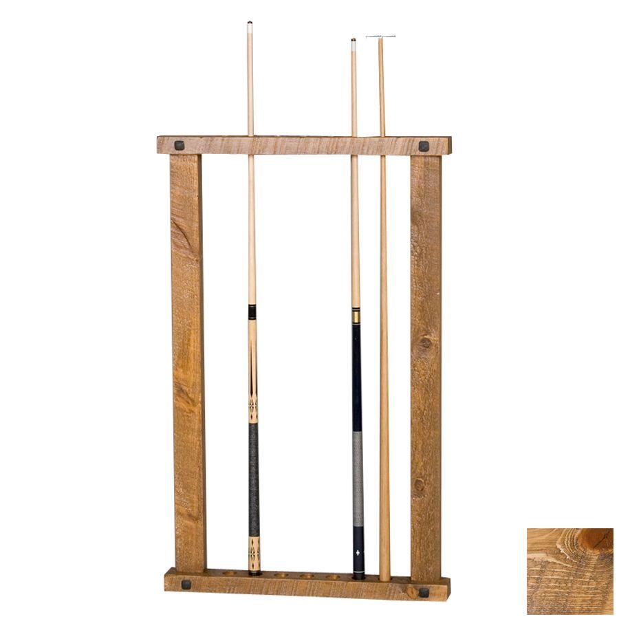 2x Billiard Pool Wall Mount Hanging 6 Cue Sticks Wood Rack Holder For Snook Z8G5