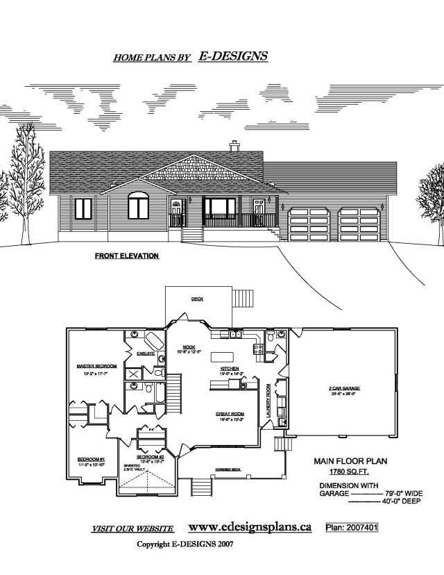 Ranch style house plans email info for Bungalow basement floor plans