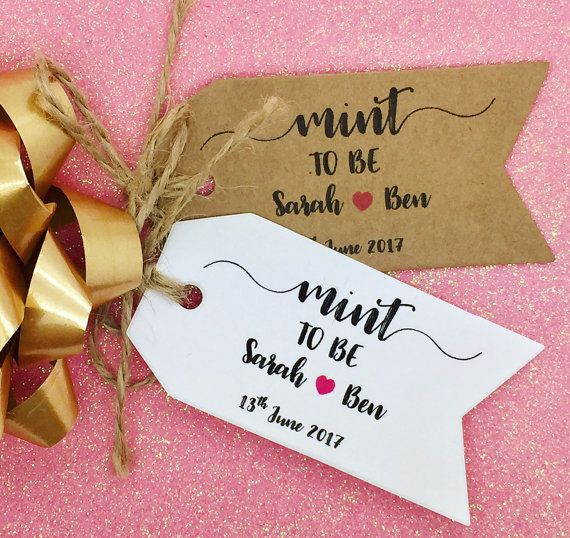 Mint To Be Wedding Favor Personalised Gift Tags
