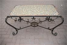 A Fabulous Italian Handmade Scrolled Wrought Iron Coffee Table
