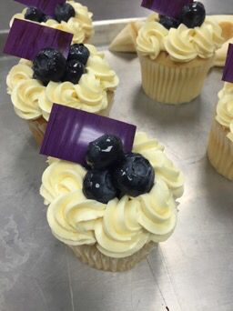 Lemon blueberry cupcakes normanloveconfections.com