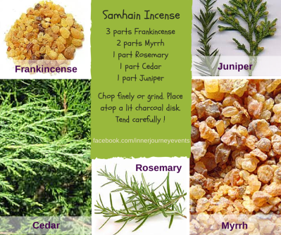 Make your own fresh Samhain incence or essential oil blend