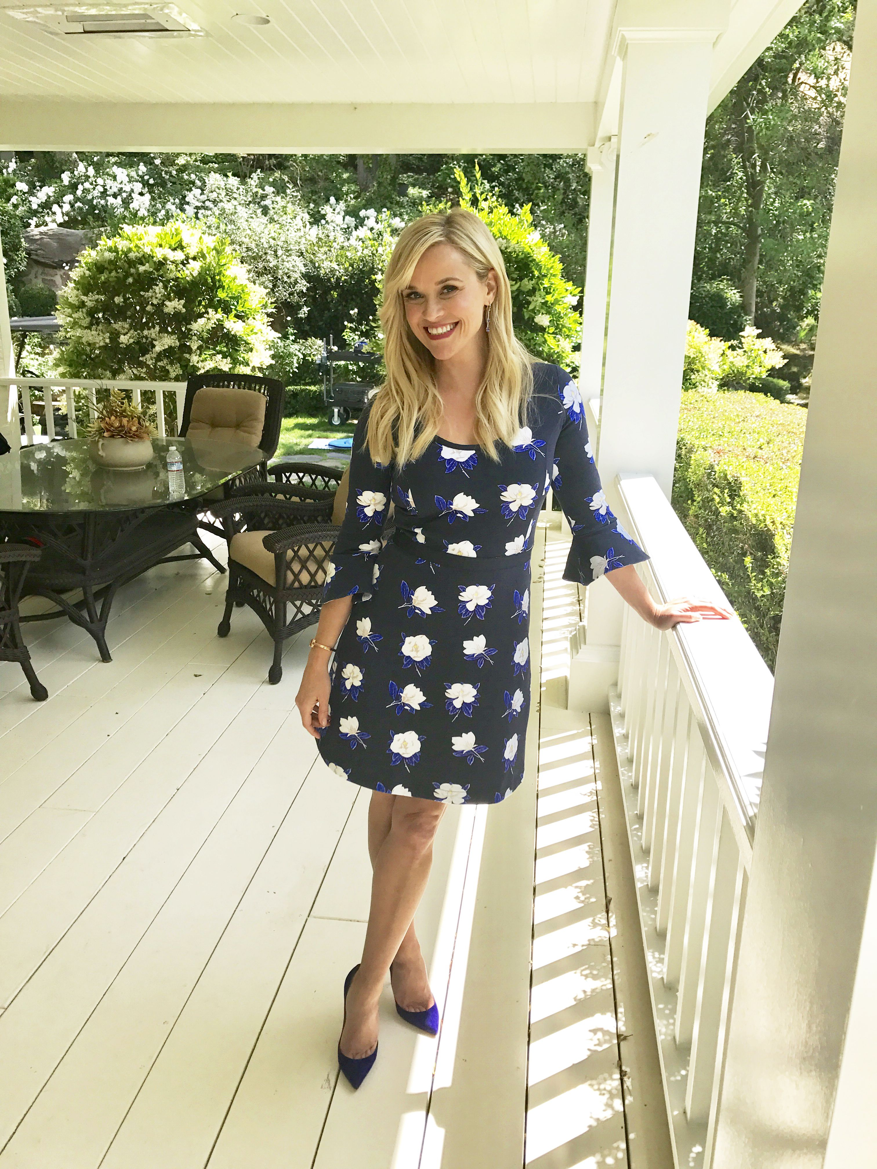 Reese In On The Cover Of Southern Living Wearing An