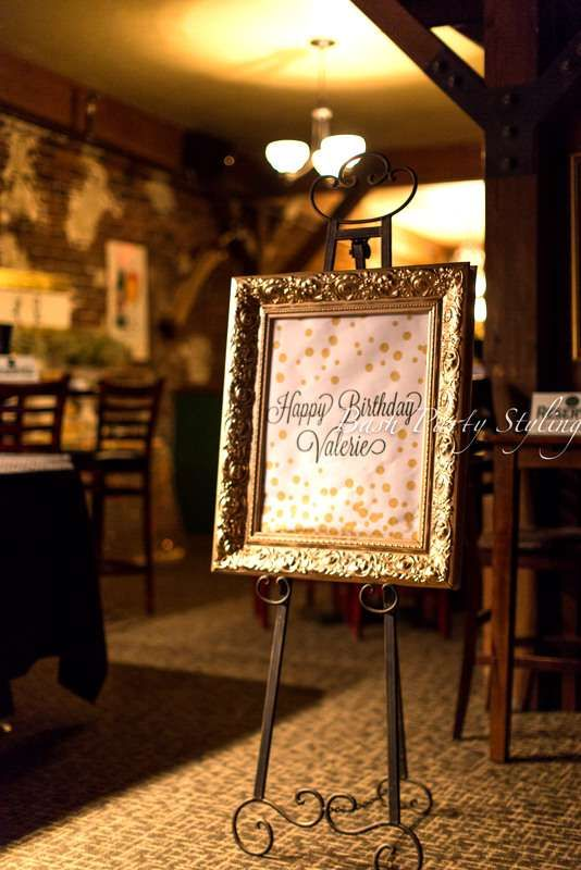 Glam th birthday party for valerie catchmyparty ideas mom also oth surprise planning rh hu pinterest