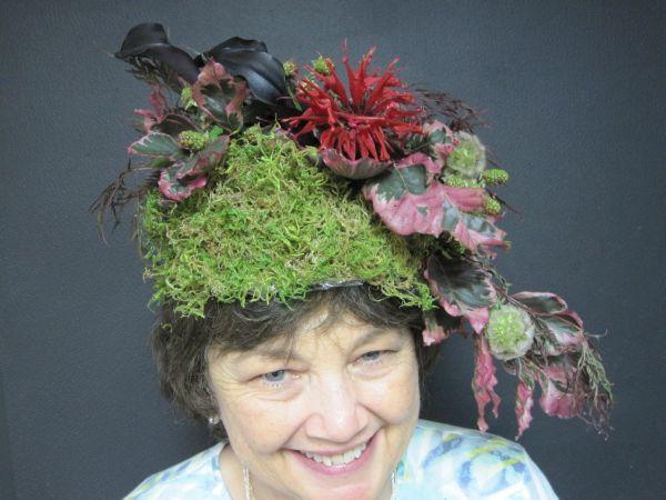 Kim's botanical headpiece, workshop at Holly Chapple's studio in VA,Françoise Weeks