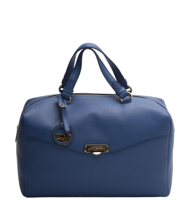 5c1b819618 VERSACE Versace Collection Women Leather Borsa Giorno Satchel Handbag  Blue .  versace  bags  leather  hand bags  satchel  cotton