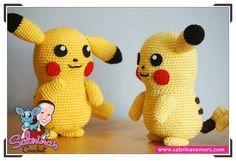 Crochet Pattern Pikachu Anleitungen Pinterest