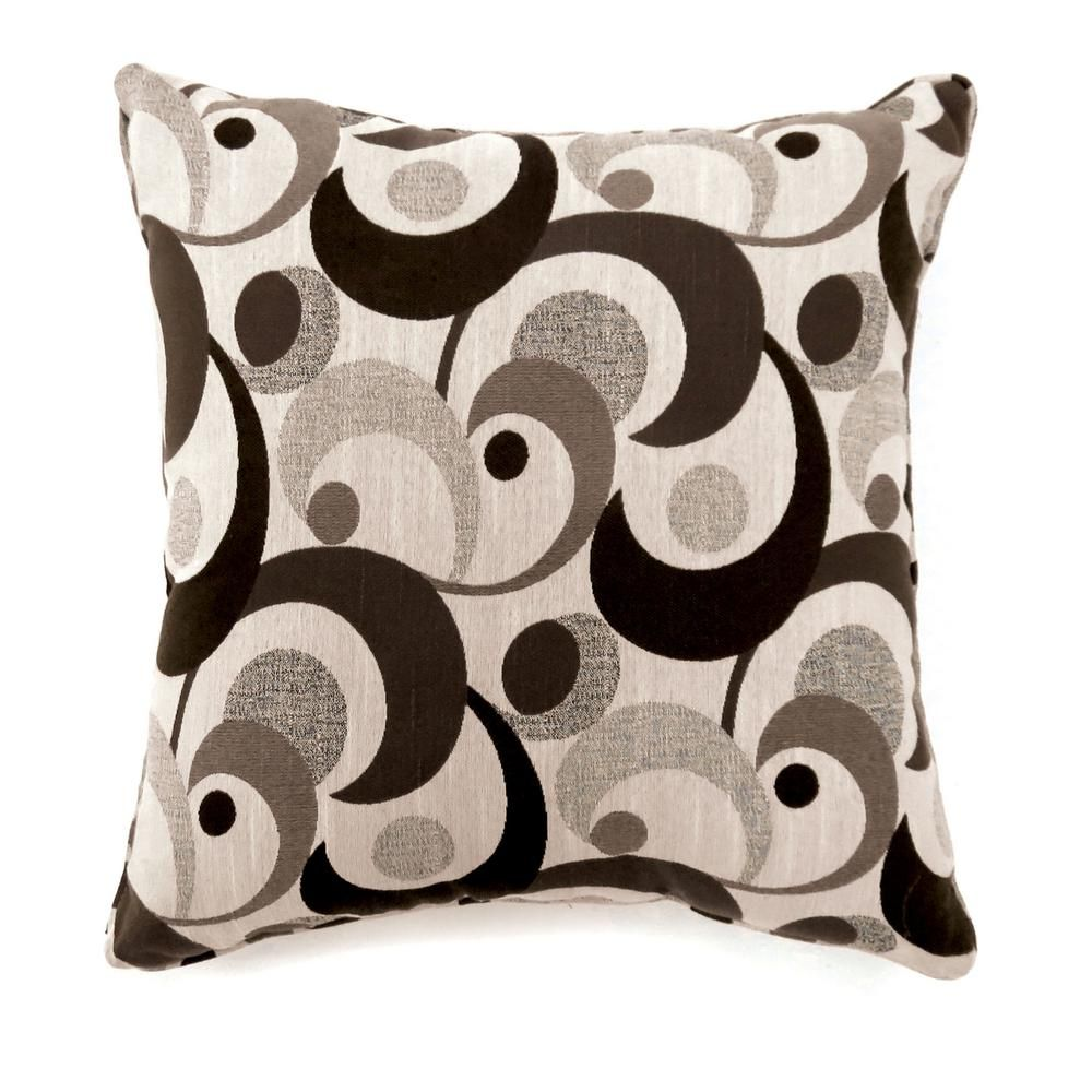 Dark Brown Throw Pillows.Swoosh 18 In Contemporary Throw Pillow In Dark Brown Pack