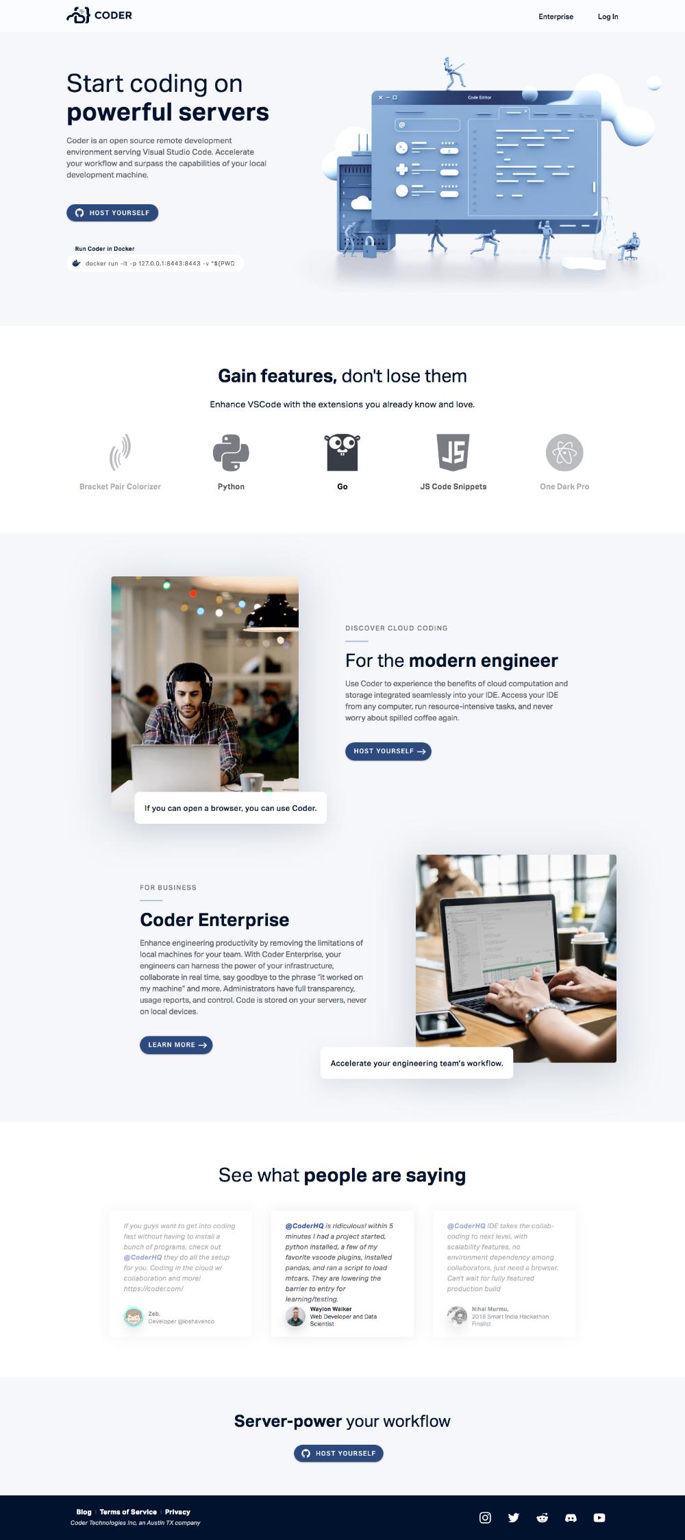 Coder Landing Page Design Inspiration Lapa Ninja Landing Page Design Page Design Coder
