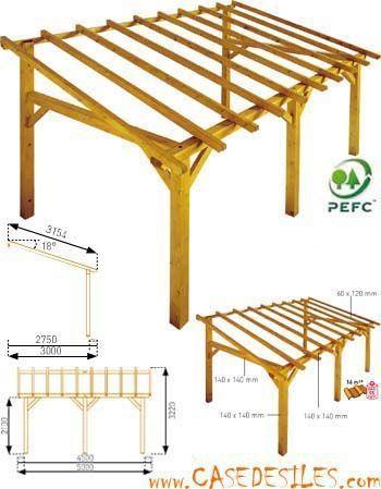 Structure De Carport En Bois 15mc Sherwood Carport Bois Idees De Patio Plans De Pergola