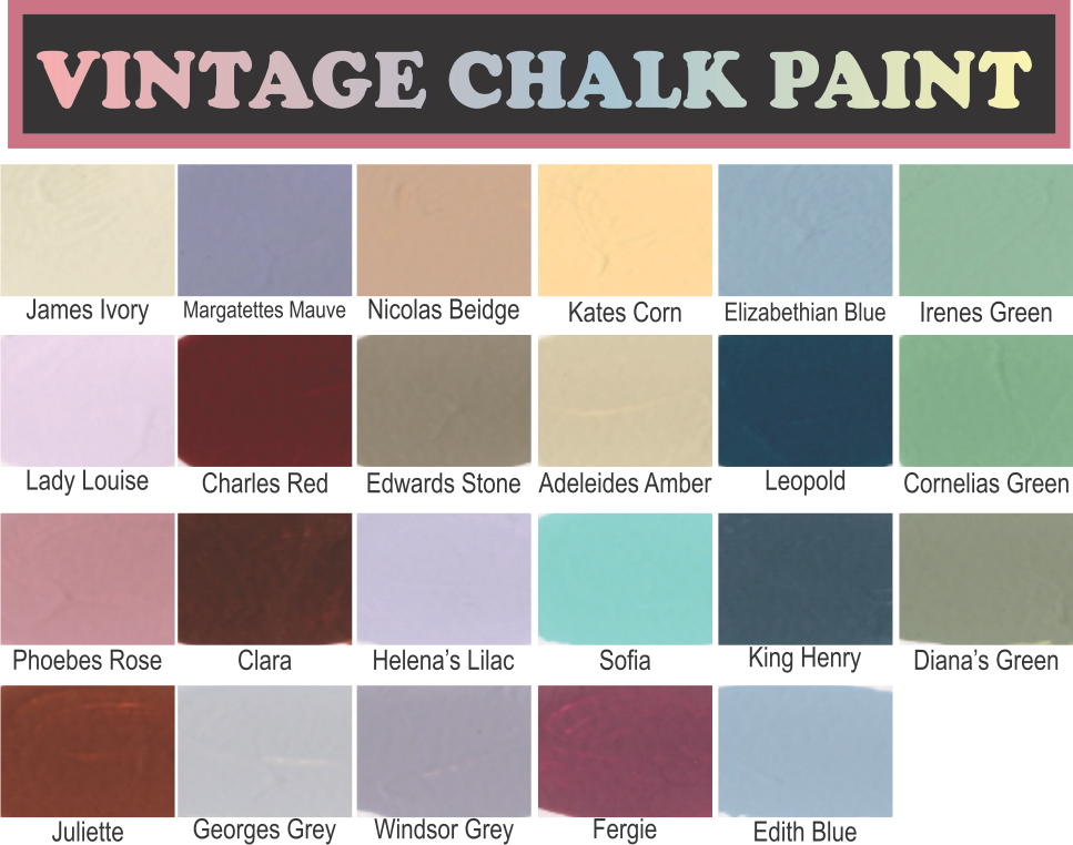 South African Brand Vintage Paint (Chalk Paint). Available