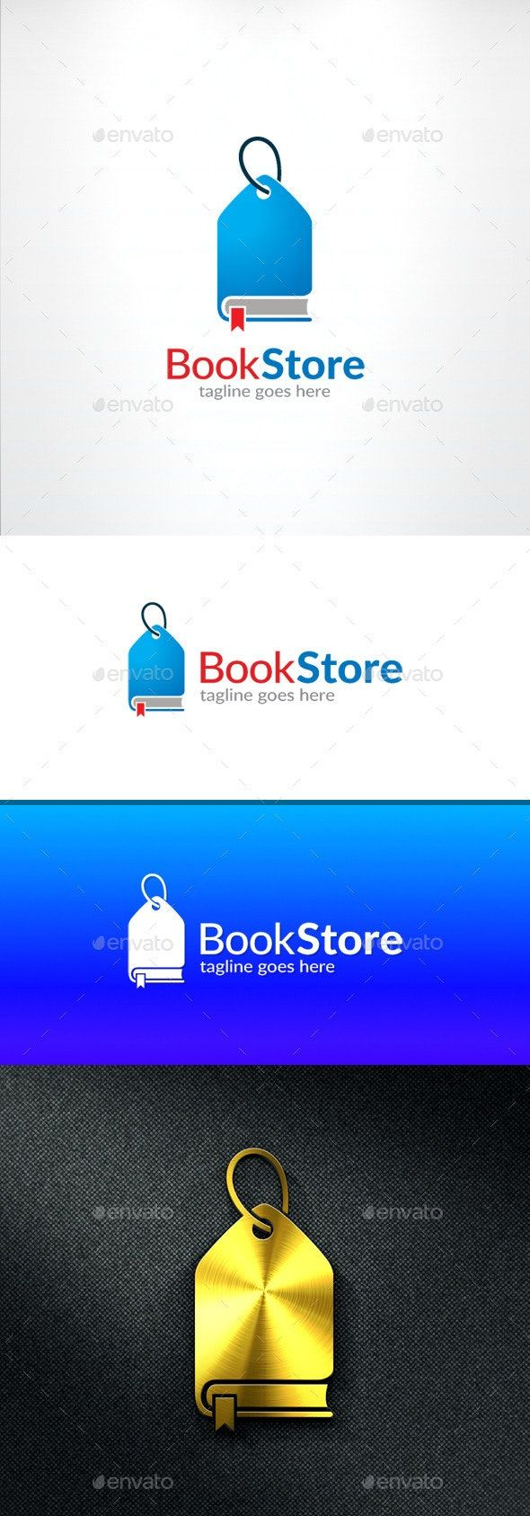 Book Store Logo Object Logo Design Template created by