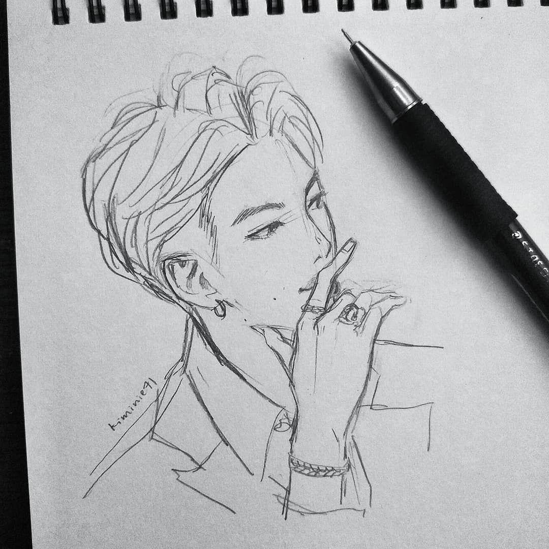 Bts Btsfanart Btsrm Btsnamjoon Namjoon Fanart Drawing