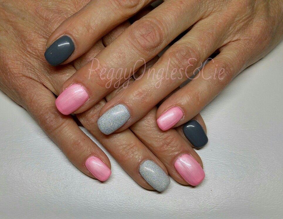 Ongle en gel rose 1 ongle gel rose decor petit pois nail for Decoration ongle gel uv