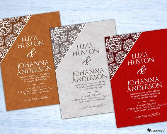 free wedding invitation template free printables damask wedding