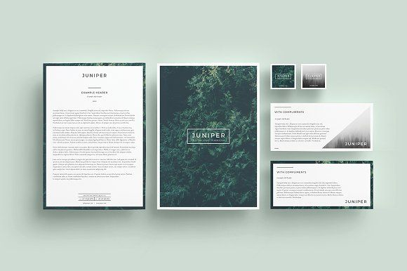 J U N I P E R Letterhead  Comps By  Collective On