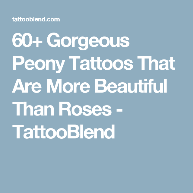 100 Peony Tattoo Designs For Men: 60+ Gorgeous Peony Tattoos That Are More Beautiful Than