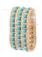 Bejeweled Turquoise Bracelet - I have this in coral and LOVE it. Need this too <3