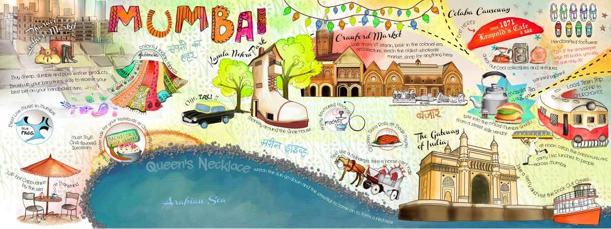 Mumbai, India by Ritu Varghese They Draw & Travel