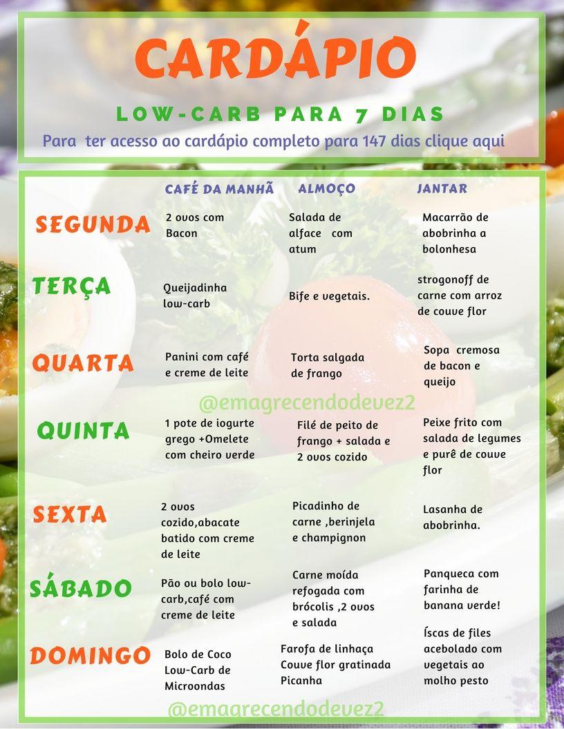 Dieta 1 semana low carb