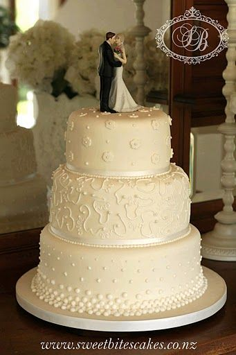 Classic wedding cake.. nothing fancy like now-a-days