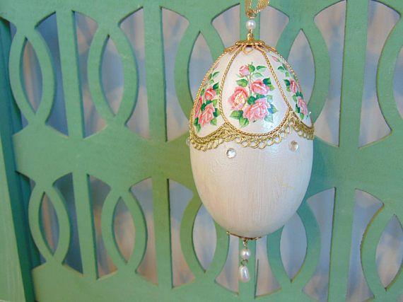 Vintage Goose Egg Ornament Farmhouse Christmas Decoration