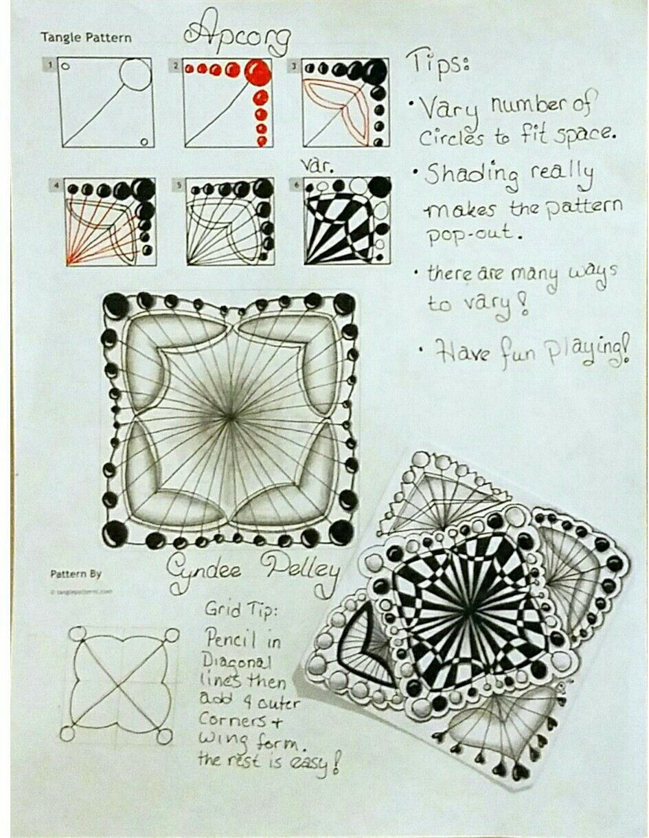 Tangle Patterns Awesome Inspiration Ideas