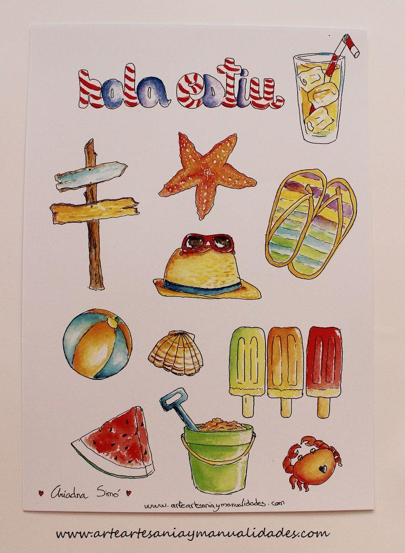 Arte, Artesania y Manualidades: Imprimible de verano gratis ...