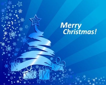 Abstract Blue Christmas Background Vector Illustration