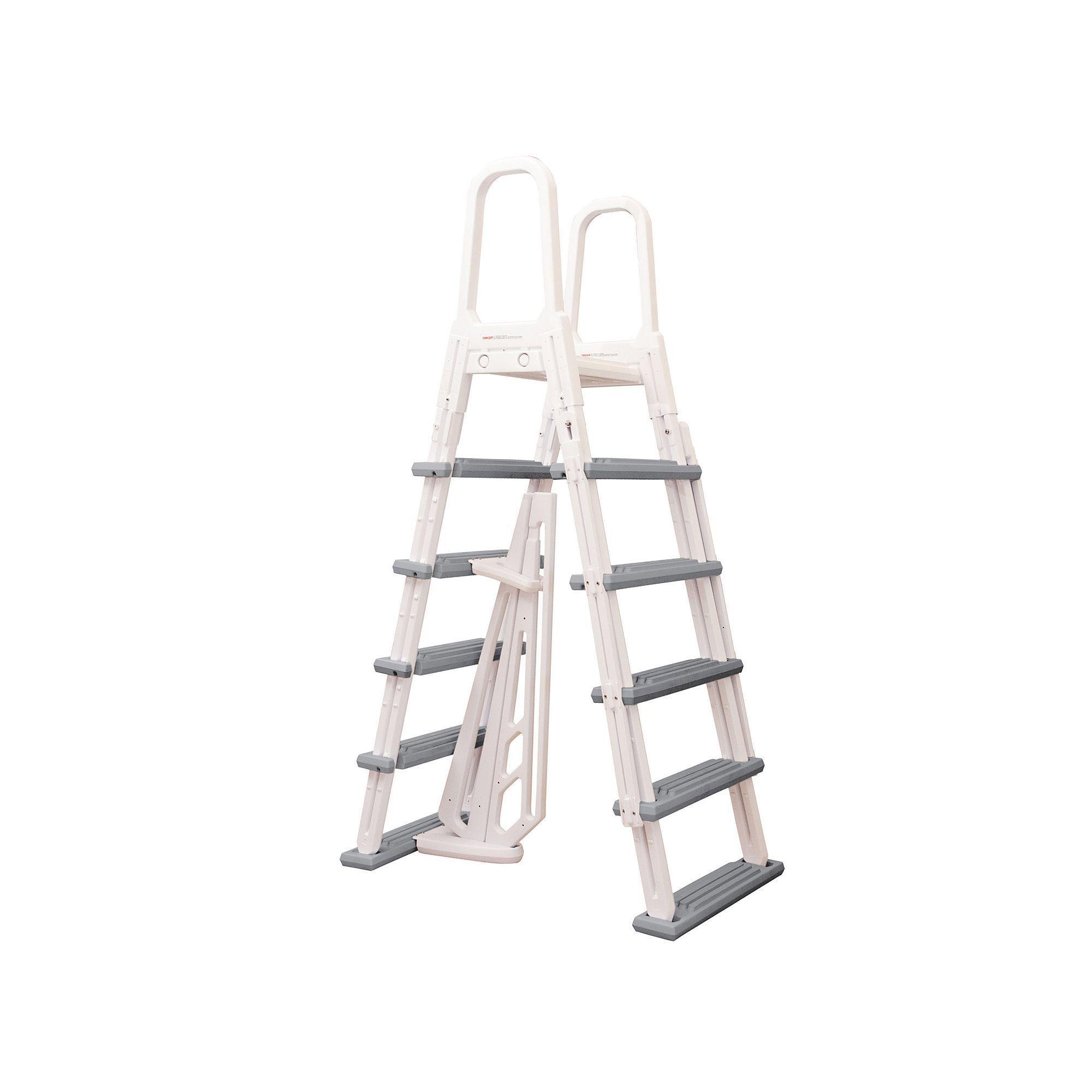 Blue Wave Heavy Duty AFrame Ladder for AboveGround Pools