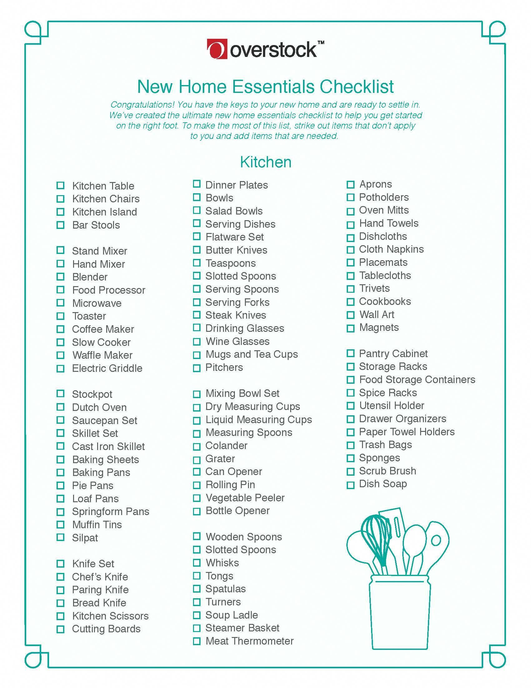 Supporting home furniture checklist your domain name