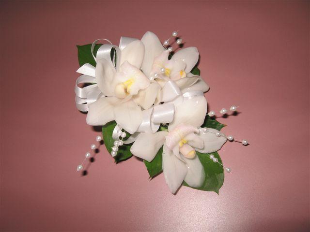 Cymbidium Orchid Wrist Corsages: Mini Cymbidium Orchid Corsage