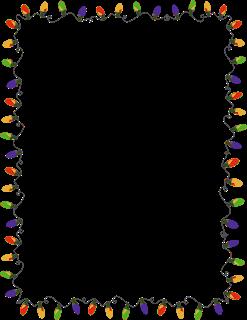 Xmas Lights Clip Arts And Borders Cartoes De Natal Animados Bordas Coloridas Trabalhos Manuais