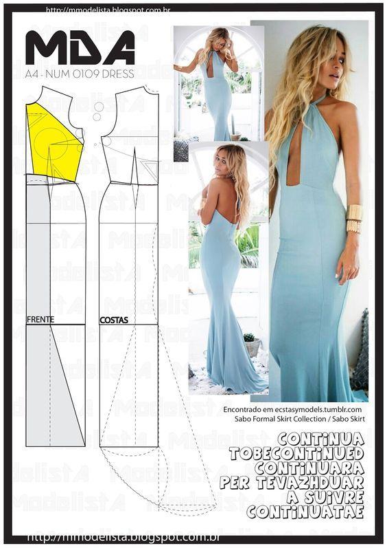 ModelistA: A4 NUM 0109 DRESS: | Надо попробовать | Pinterest | Molde ...