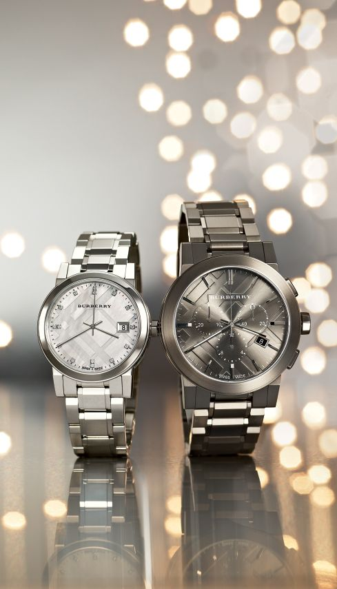Check the time with Burberry watches.