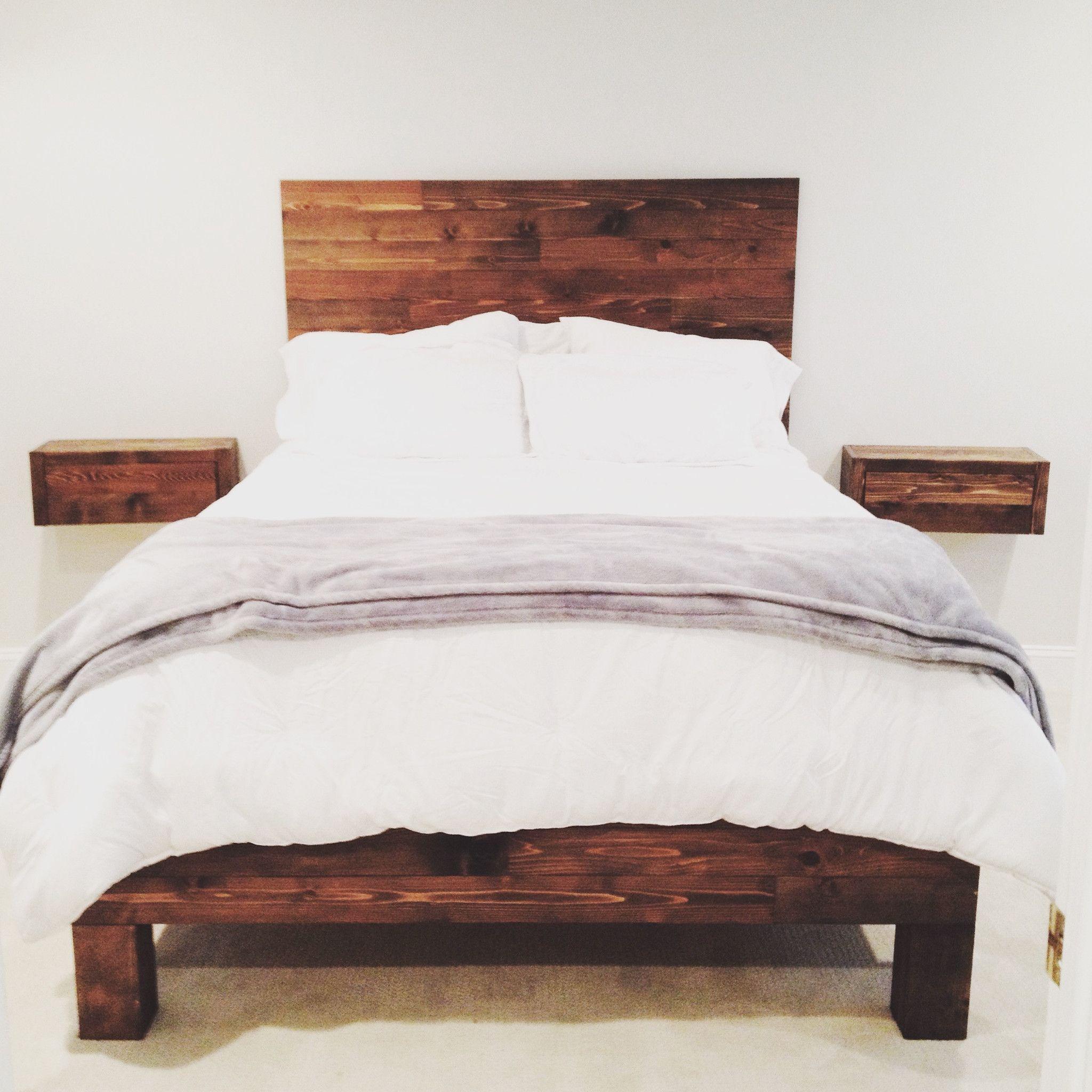 Elle Brass Frame Reclaimed Wood Queen Platform Bed