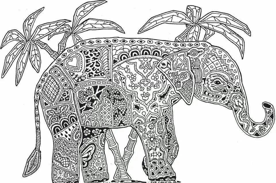 Kleurplaten Mandala Olifant Archidev