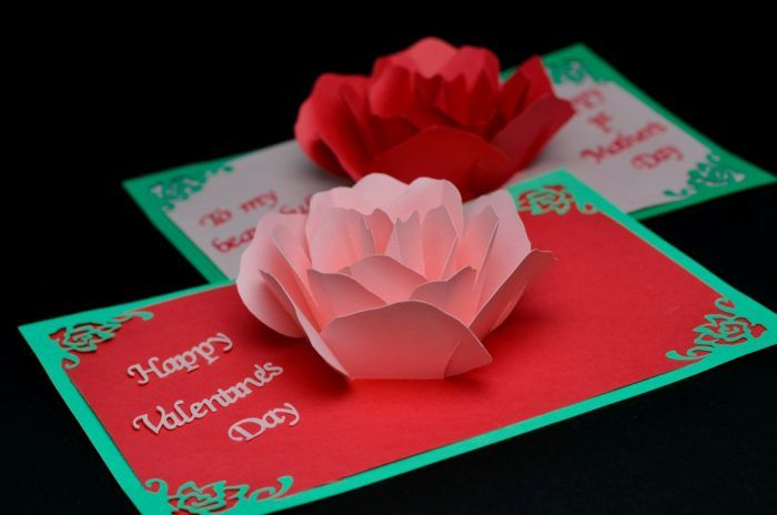 Rose Flower Pop Up Card Tutorial Creative Pop Up Cards Pop Up Valentine Cards Diy Pop Up Cards Pop Up Card Templates
