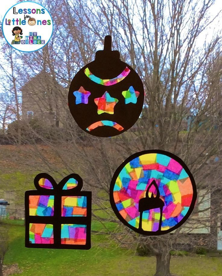 Christmas Silhouette Window Decorations - Lessons for Little Ones by Tina O'Block   - Christmas Cla