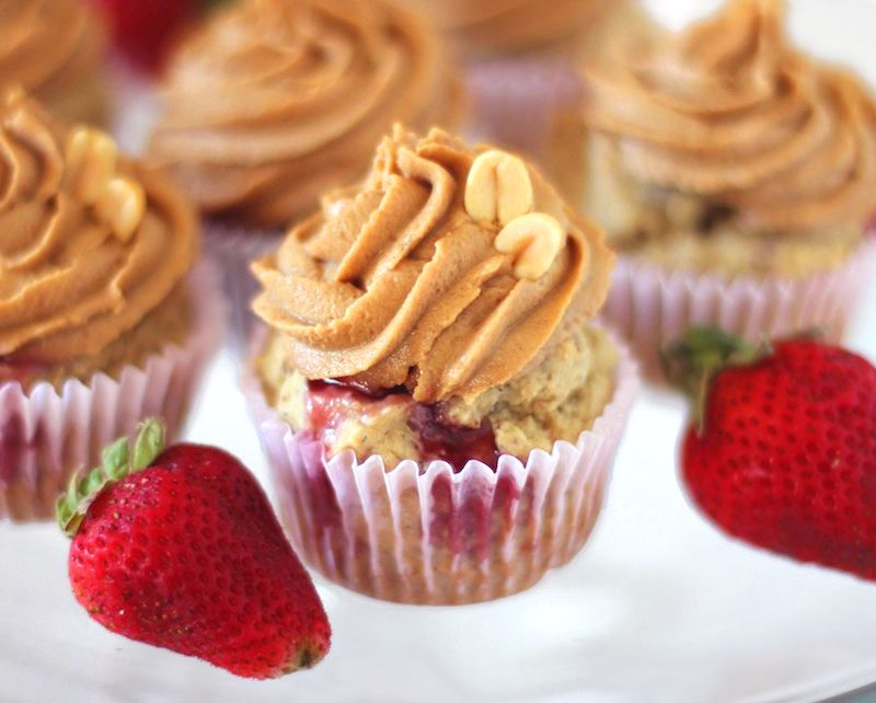 Healthy Peanut Butter Jelly Cupcakes Recipe Vegan Sweets Healthy Peanut Butter Vegan Cupcakes